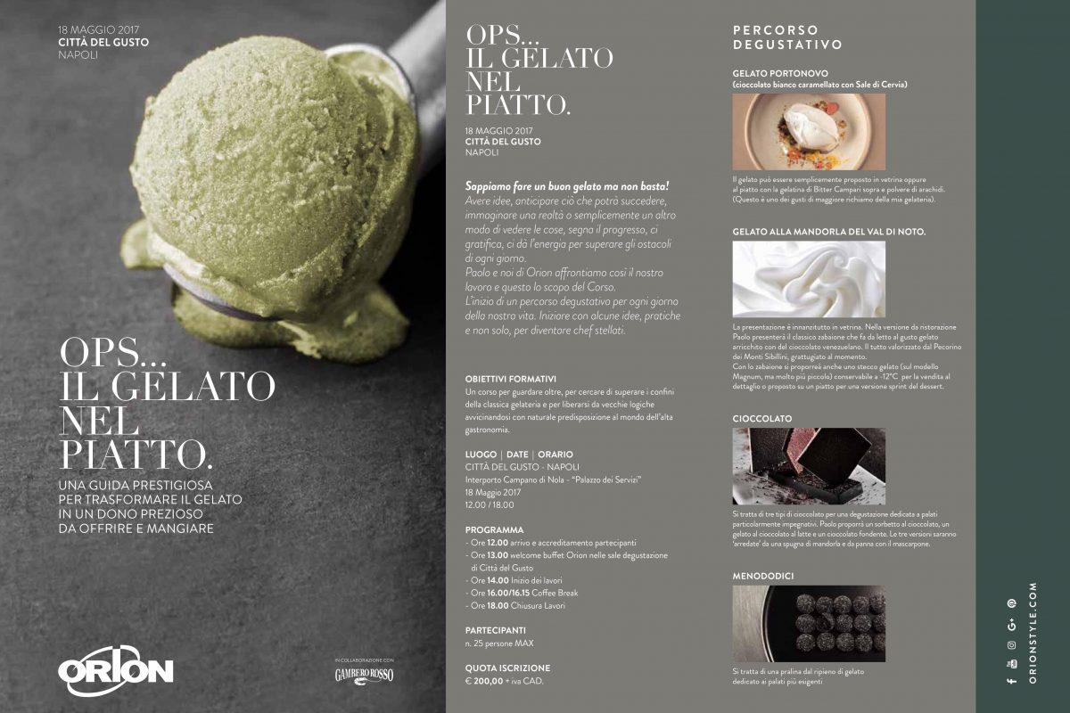 Ops... Il gelato nel piatto con Paolo Brunelli